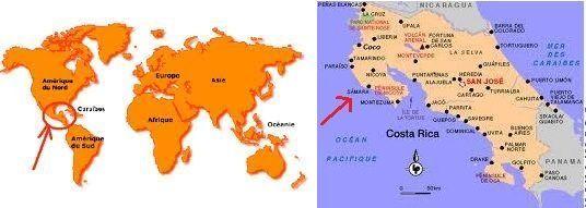 costa rica carte du monde-